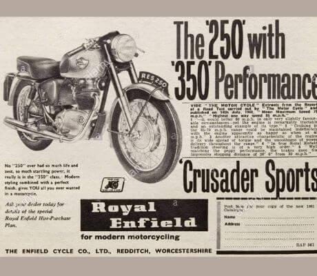 royal enfield print ads